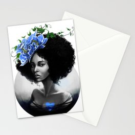 Blossom Afro Stationery Cards