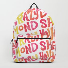 Shine On Your Crazy Diamond – Pink & Melon Palette Backpack