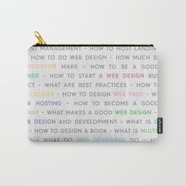 Colored Web Design Keywords Poster Concept Carry-All Pouch