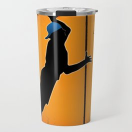 Basketball Player Silhouette Travel Mug