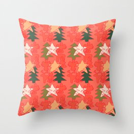 Christmas Collage Throw Pillow