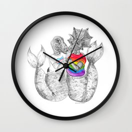 PRIDE#mermasaur Wall Clock
