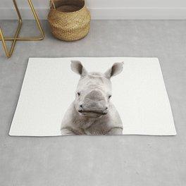 Baby Rhino Portrait Rug