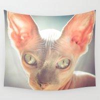 floyd Wall Tapestries featuring Floyd The Cat by Alex DZ