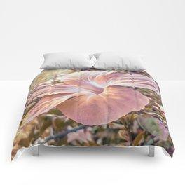 Fantasy Colors Hibiscus Flower Digital Photography Comforters