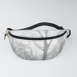 Black and White Forest Illustration Fanny Pack