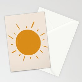 painted sun Stationery Cards