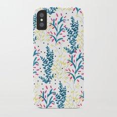 bright flowers. Illustration, pattern, flowers, floral, print,  iPhone X Slim Case