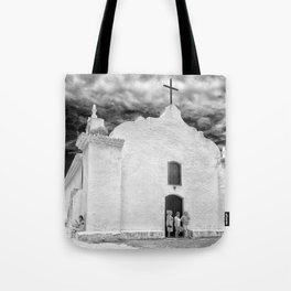 Church Black and White Tote Bag