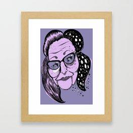 Big Edie Framed Art Print