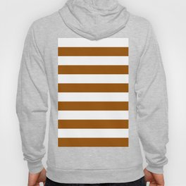 Horizontal Stripes - White and Brown Hoody