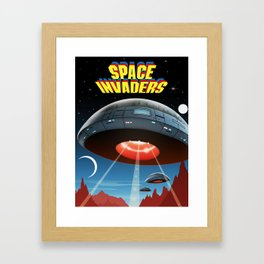 Invaders of Space, 1980s (Cover Art Recreation) Framed Art Print