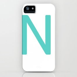 Blue Scrabble Initial Letter N iPhone Case