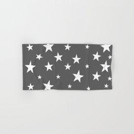 Hand-Drawn Stars (White & Grey Pattern) Hand & Bath Towel