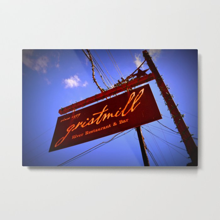Gristmill Sign Metal Print