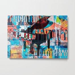 Piano Pianist Piano Watercolor Metal Print