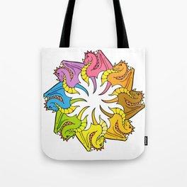 Rainbow circle of Dragons Tote Bag