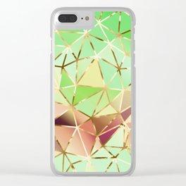 Rainbow Geometric Pattern #1 Clear iPhone Case