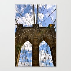 Brooklyn Bridge In Color Canvas Print