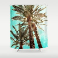 palms Shower Curtains featuring Palms by Elliott's Location Photography