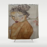 naked Shower Curtains featuring Naked by Harlem McKinnie