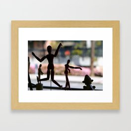Wooden Puppet Framed Art Print