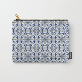 Portuguese tiles pattern blue Carry-All Pouch