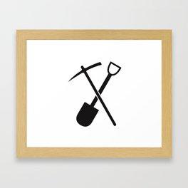 shovel and pickaxe Framed Art Print