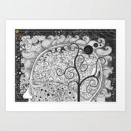 The White Noise Art Print