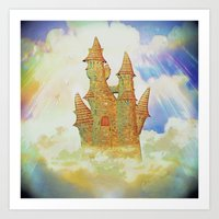 castle in the sky Art Prints featuring castle in the sky by Ancello