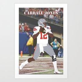 Ohio State Buckeyes - Cardale Jones (2015) (Vector Art) Art Print