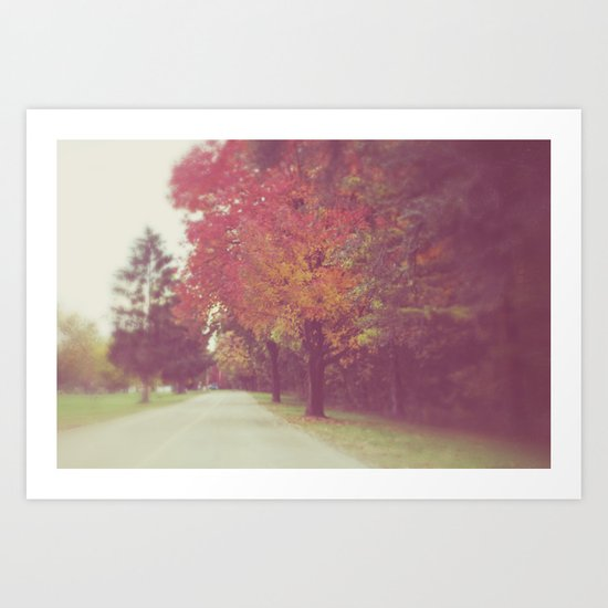an autumn drive Art Print