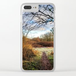 Out of the Woods and Back to the Frosty Path Clear iPhone Case