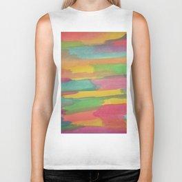 Rainbow Sorbet Abstract Art Biker Tank