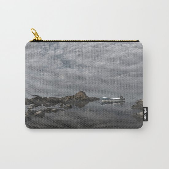 Lonely boat on the sea Carry-All Pouch