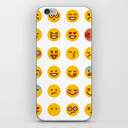 Cute Set of Emojis iPhone Skin