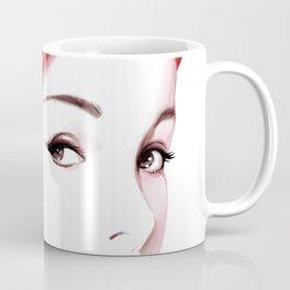 Beauty in red hat, Fashion Beauty, Fashion Painting, Fashion IIlustration, Vogue Portrait, #18 Coffee Mug