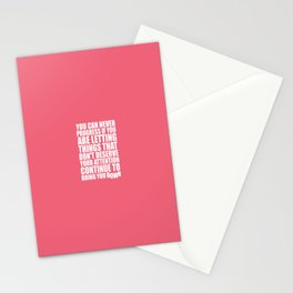Lab No. 4 - You Can Never Progress If You Are Letting Things Gym Inspirational Quotes Poster Stationery Cards