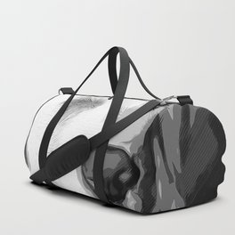 labrador retriever dog winking vector art black white Duffle Bag