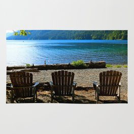 Adirondack Chairs at Lake Cresent Rug