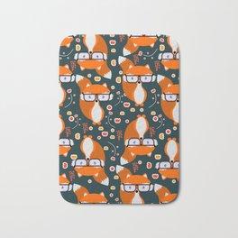 Hipster foxes Bath Mat