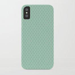 Chicken Wire Mint iPhone Case