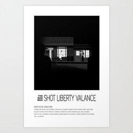 THE MAN WHO SHOT LIBERTY VALANCE (1962) Art Print