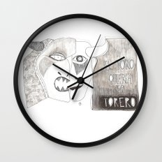 El toro que quería ser torero Wall Clock
