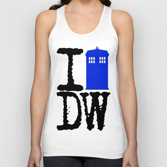 I Love Doctor Who! Unisex Tank Top