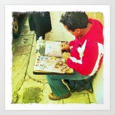 Street Artist Art Print