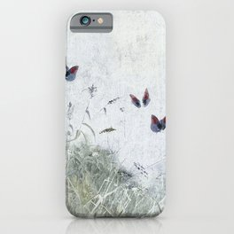 A Spell for Creation - butterflies amongst grass iPhone Case