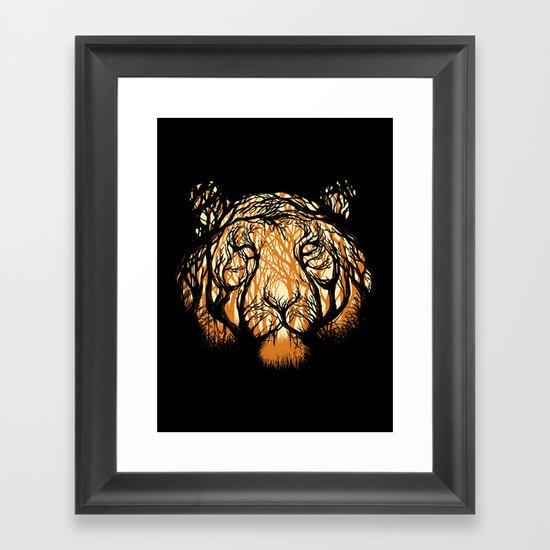 Hidden Hunter Framed Art Print