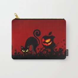 NIGHTMARE CAT WITH APPLE Carry-All Pouch
