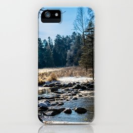 Mississippi Headwaters in December iPhone Case